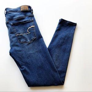 American Eagle Hi Rise Jegging Jeans Dark Wash 6